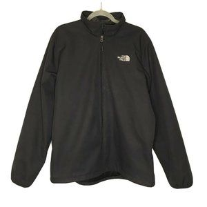 The North Face Black Soft Shell Zip Up Jacket Wind